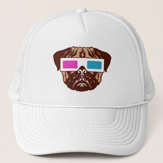 3D Pug Trucker Hat