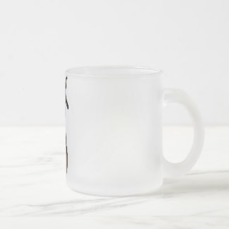 3D PUNK PUMPKIN GIRL - EARLY COLOR HALFTONE FROSTED GLASS COFFEE MUG