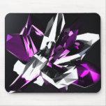 3D Purple crystal Mouse Pads
