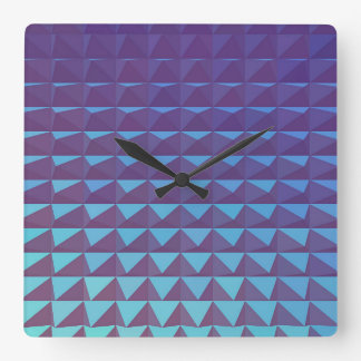 3D Purple Triangles Clock