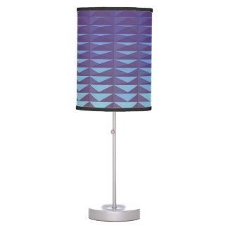 3D Purple Triangles Table Lamp
