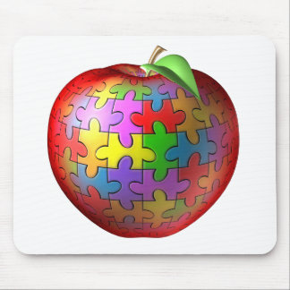 3D Puzzle Apple Mouse Pad