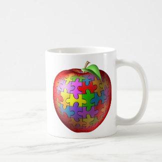 3D Puzzle Apple Classic White Coffee Mug