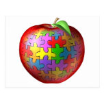 3D Puzzle Apple Post Card