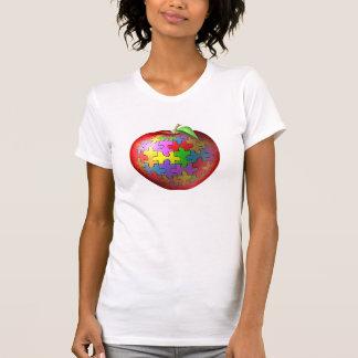 3D Puzzle Apple T-Shirt