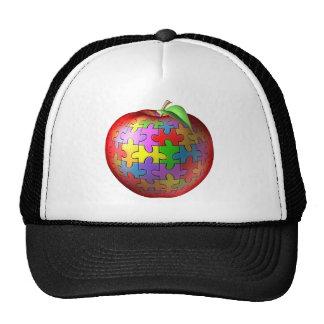 3D Puzzle Apple Trucker Hat
