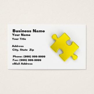 3D Puzzle Piece (Gold) Business Card