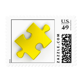 3D Puzzle Piece (Metallic Gold) Stamps