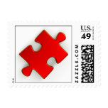 3D Puzzle Piece (Metallic Red) Stamp