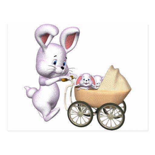3D Rabbit Postcards