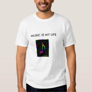 3d_rainbow_eighth_note, MÚSICA ES MI VIDA Playera