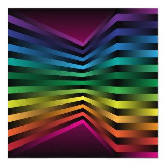 "3D Rainbow 5.25"" Square Invitation Card"