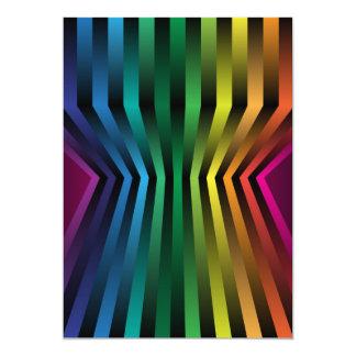 """3D Rainbow 5"""" X 7"""" Invitation Card"""