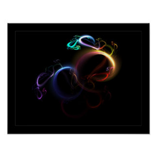 3D Rainbow Posters