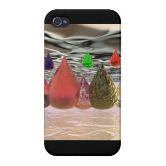 3D Raindrops iPhone 4/4S Cover
