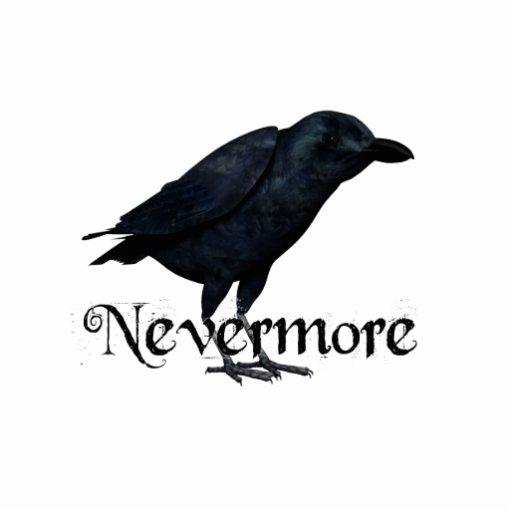 3D Raven nunca más Fotoescultura Vertical