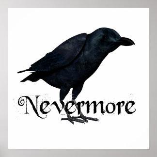 3D Raven nunca más Poster