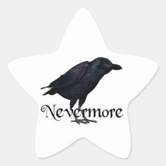 3D Raven nunca más Calcomanía Cuadrada Personalizada