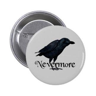 3D Raven nunca más Pin Redondo 5 Cm