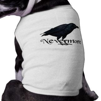 3D Raven nunca más Camisa De Mascota