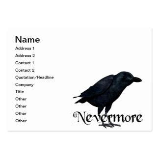3D Raven nunca más Tarjetas De Visita Grandes