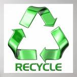 3d reciclan el gráfico poster