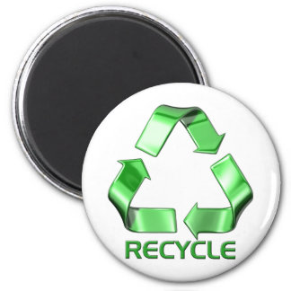 3d Recycle Graphic 2 Inch Round Magnet
