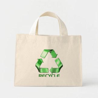 3d Recycle Graphic Mini Tote Bag