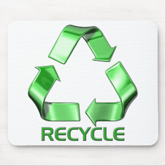 3d Recycle Graphic Mouse Mats