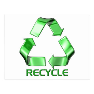 3d Recycle Graphic Postcard