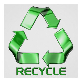 3d Recycle Graphic Poster