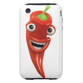 3d Red Chilli Pepper Laughs! (Any Color U Like!) Tough iPhone 3 Case