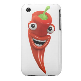 3d Red Chilli Pepper Laughs! (Any Color U Like!) Case-Mate iPhone 3 Case