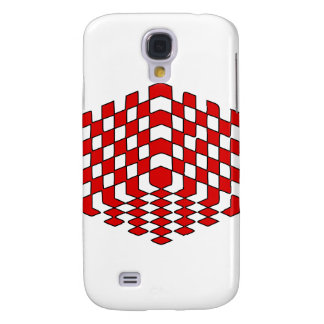 3D Red Cube Optical Illusion Samsung Galaxy S4 Case