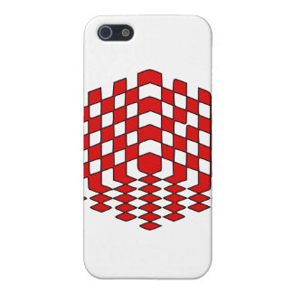 3D Red Cube Optical Illusion Cover For iPhone 5