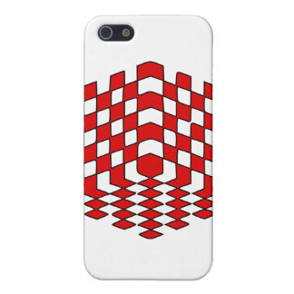 3D Red Cube Optical Illusion iPhone SE/5/5s Cover