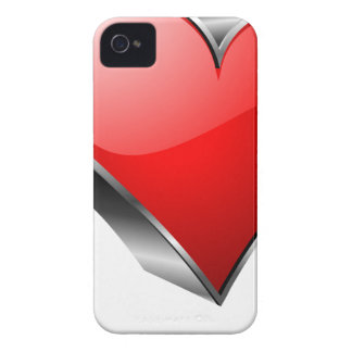 3D red hearth symbol iPhone 4 Case