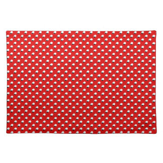 3D Red Polka Dots Cloth Placemat
