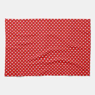 3D Red Polka Dots Hand Towel
