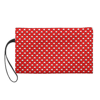 3D Red Polka Dots Wristlet