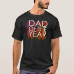 3D Red Shadow Dad of the Year T-Shirt
