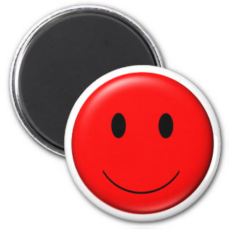 3D Red Smiley Magnets