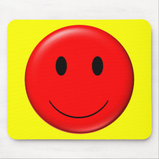 3D Red Smiley Mousepad