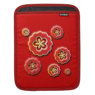 3D red yellow Flowers iPad Sleeve