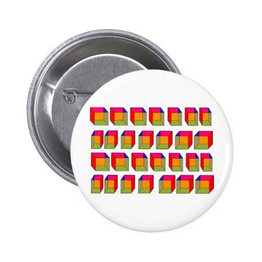 3D refrescan la ilusión óptica de los cubos Pins