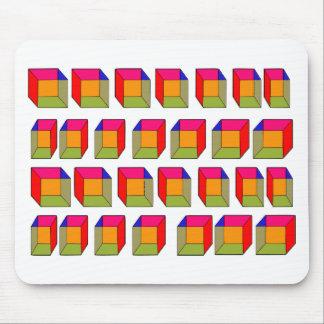 3D refrescan la ilusión óptica de los cubos Tapetes De Ratón