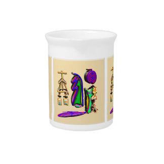 3D Reiki Healing Symbol Art Beverage Pitcher