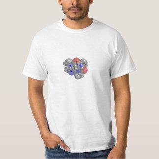 3D rendered caffeine molecule T-shirt