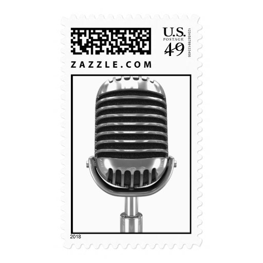 3d Retro DJ Microphone (Any Color Or Like) Postage Stamps