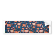 3d Retro rectangular pattern Bumper Sticker